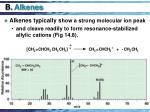 b alkenes