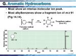g aromatic hydrocarbons