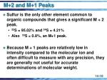 m 2 and m 1 peaks18