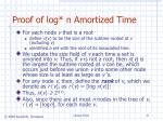 proof of log n amortized time
