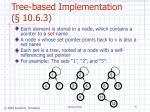 tree based implementation 10 6 3