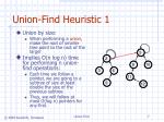 union find heuristic 1