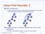 union find heuristic 2