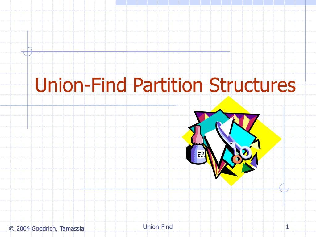 union find partition structures l.