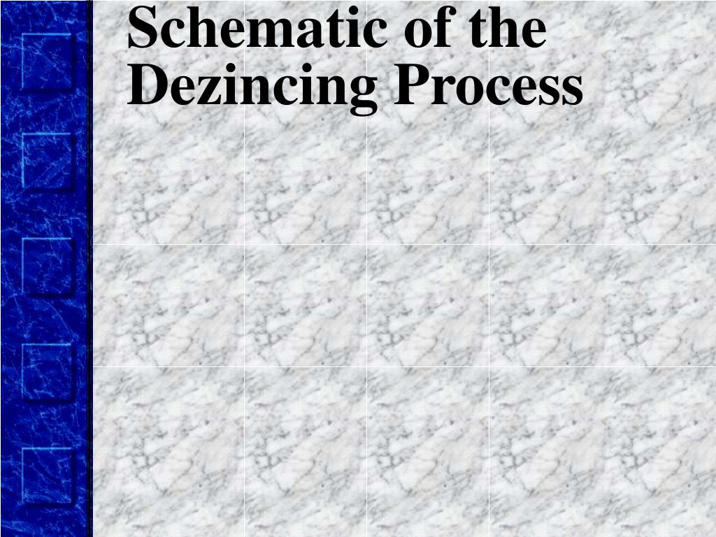 Schematic of the Dezincing Process