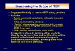 broadening the scope of iter