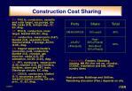 construction cost sharing