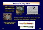 manufacturing r d