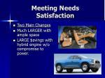 meeting needs satisfaction