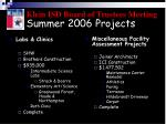 summer 2006 projects