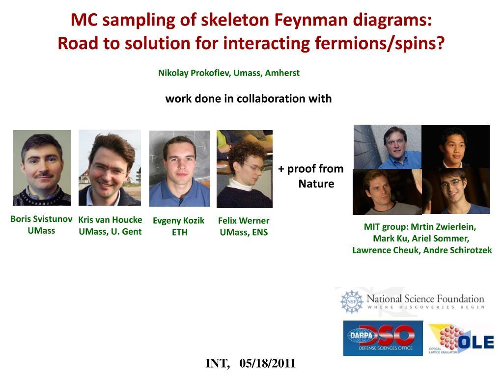MC sampling of skeleton Feynman diagrams: