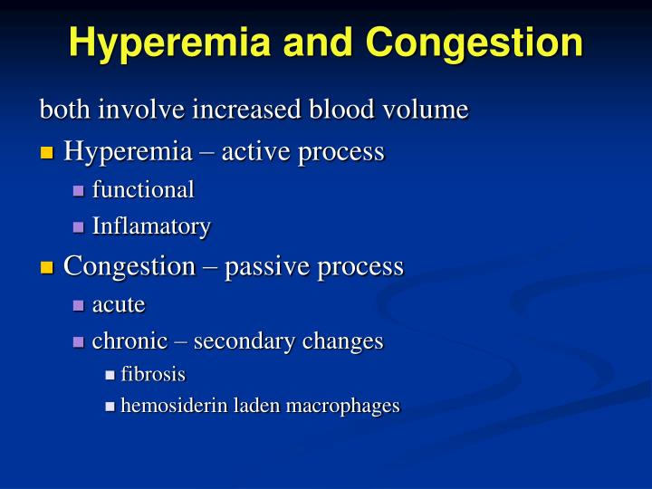 Hyperemia and Congestion