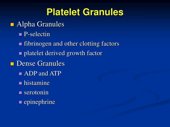 Platelet Granules