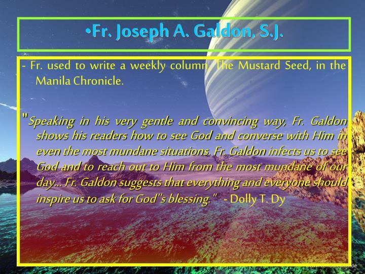 Fr. Joseph A. Galdon, S.J.