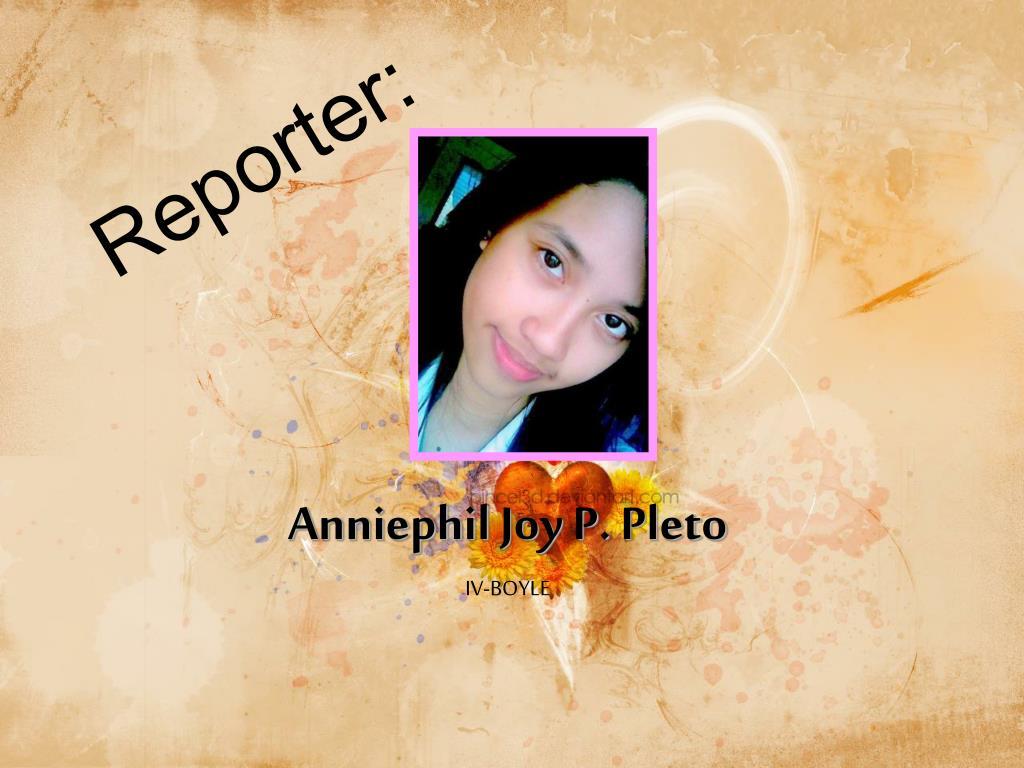 Reporter: