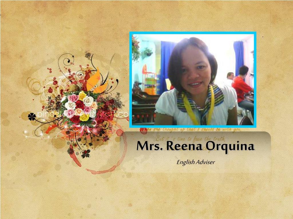 Mrs. Reena Orquina