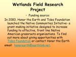 wetlands field research project