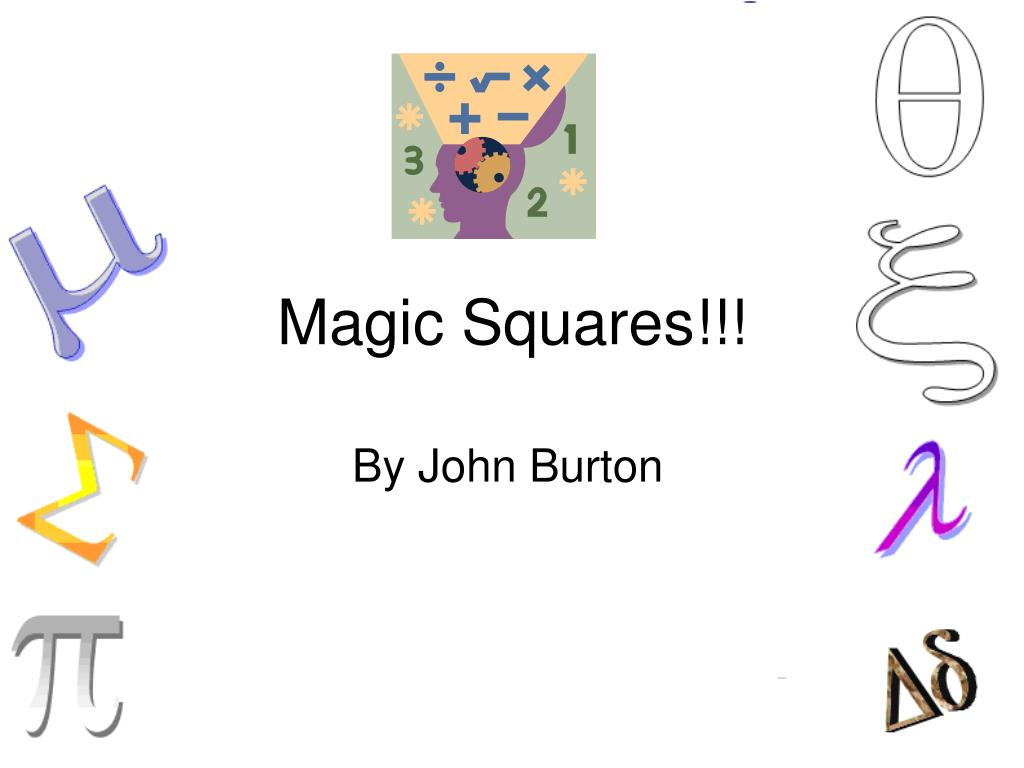 Ppt Magic Squares Powerpoint Presentation Id292703