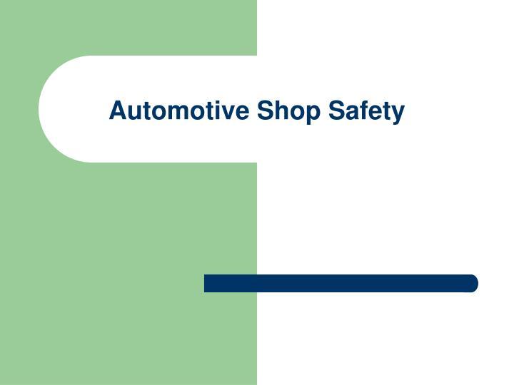automotive shop safety n.