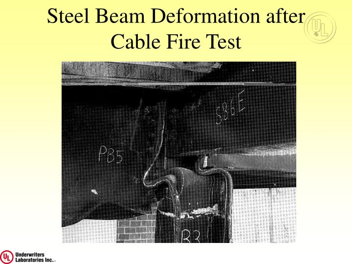 Steel Beam Deformation after Cable Fire Test