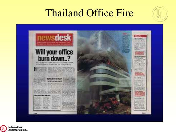 Thailand Office Fire