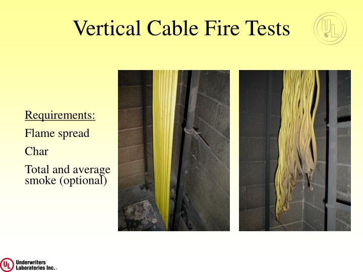 Vertical Cable Fire Tests
