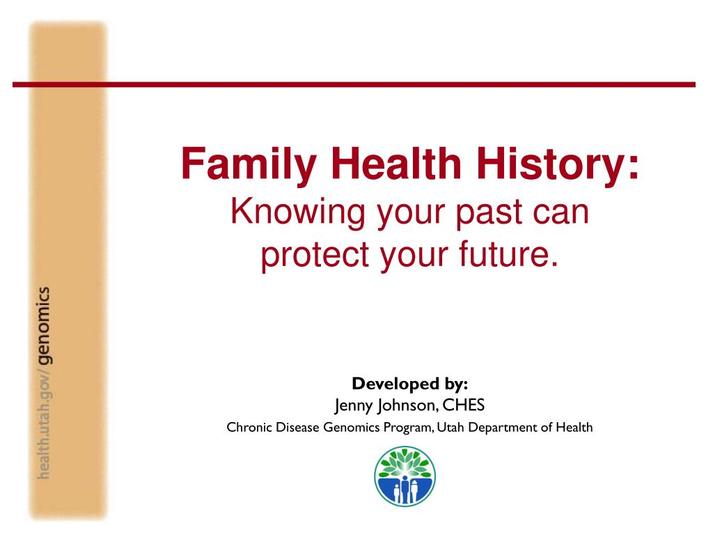 family health history knowing your past can protect your future l.