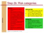 step 2b risk categories