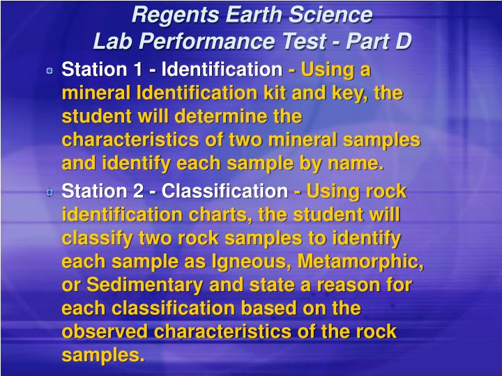 regents earth science lab performance test part d n.