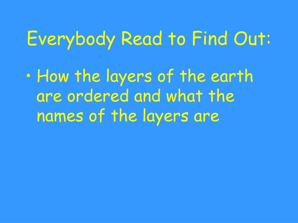 everybody read to find out l.