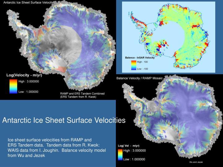 Antarctic Ice Sheet Surface Velocities