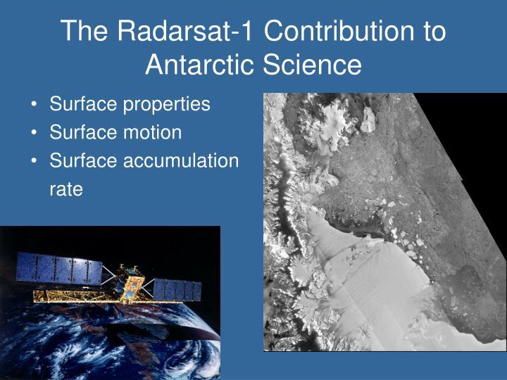 The Radarsat-1 Contribution to Antarctic Science