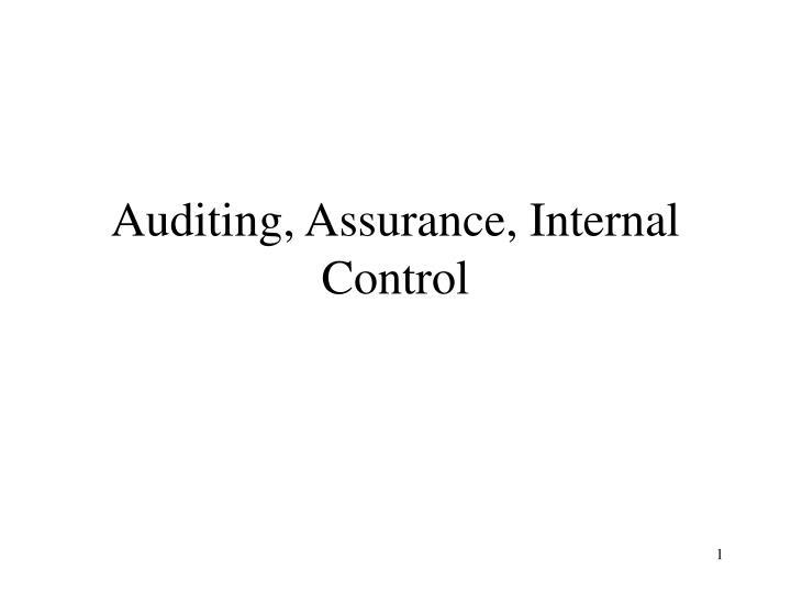 auditing assurance internal control n.