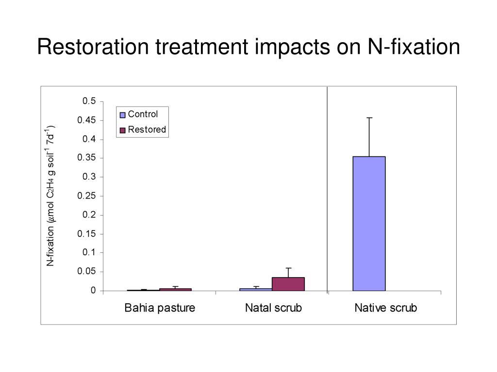 Restoration treatment impacts on N-fixation