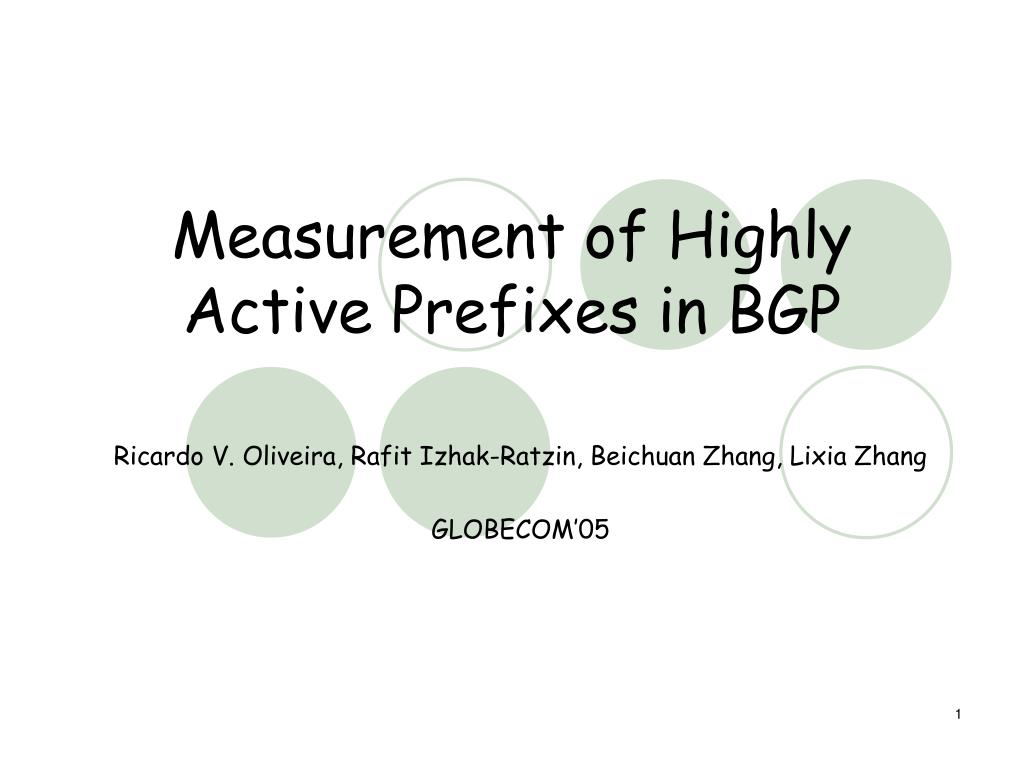measurement of highly active prefixes in bgp l.