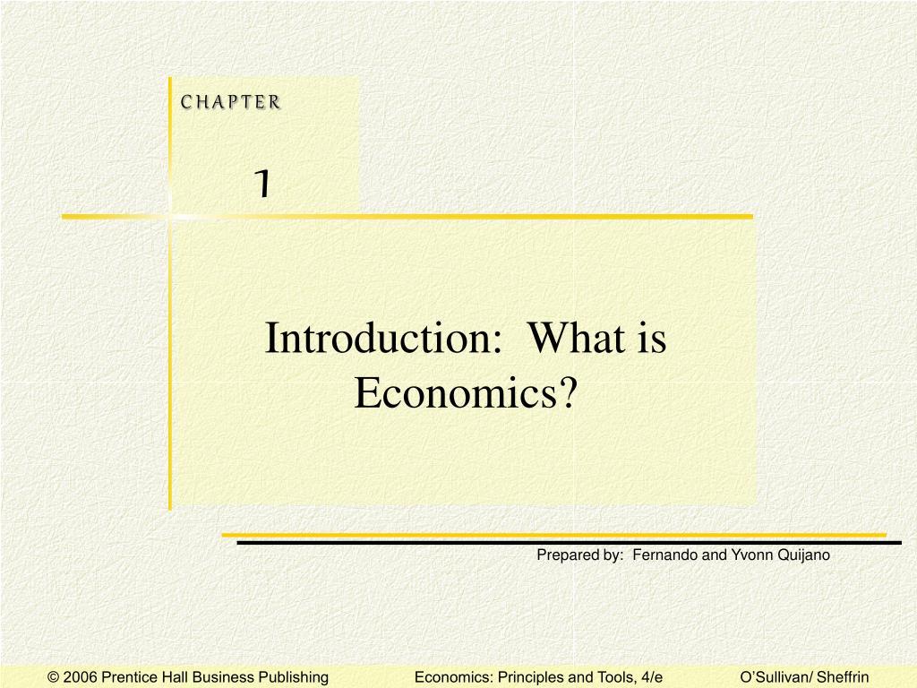 introduction what is economics l.