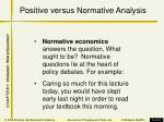 positive versus normative analysis5