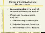 preview of coming attractions macroeconomics
