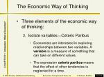 the economic way of thinking9