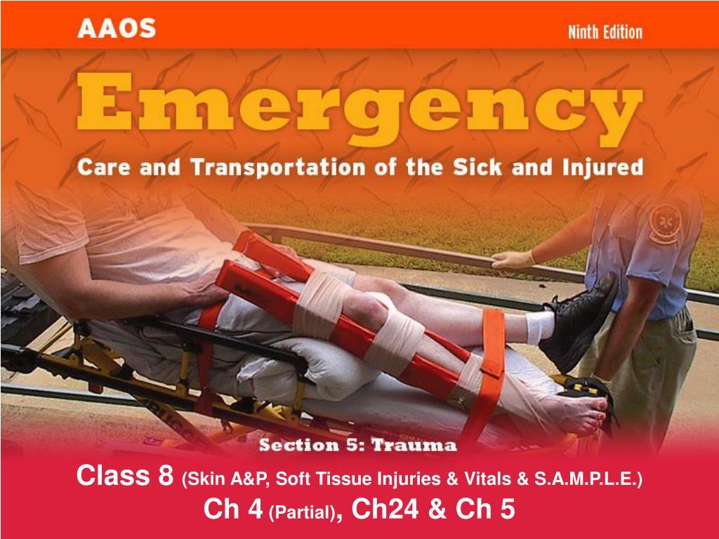 class 8 skin a p soft tissue injuries vitals s a m p l e ch 4 partial ch24 ch 5 l.