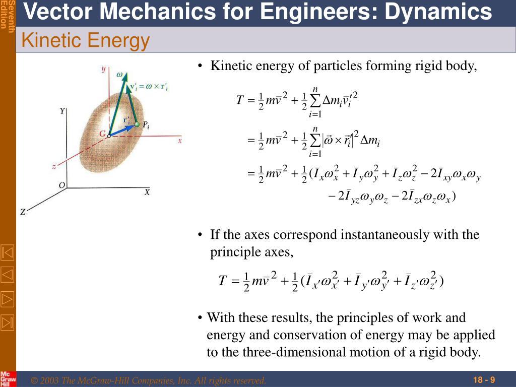If the axes correspond instantaneously with the principle axes,