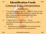 identification cards common policy interpretation30