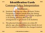 identification cards common policy interpretation31