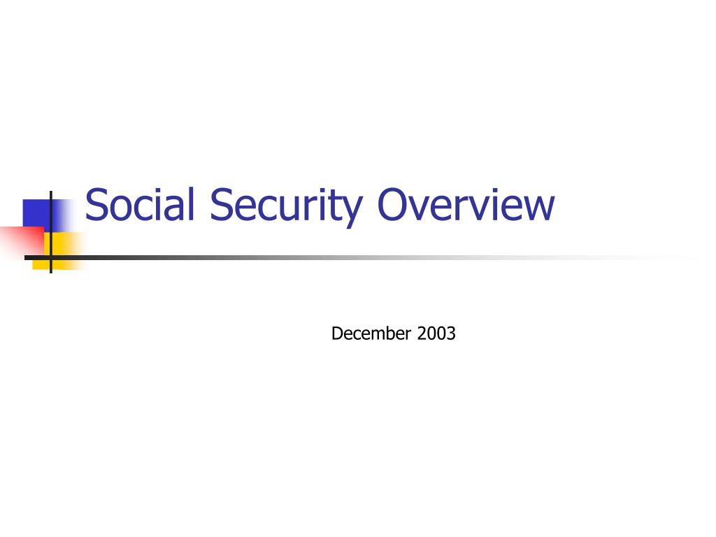 social security overview l.