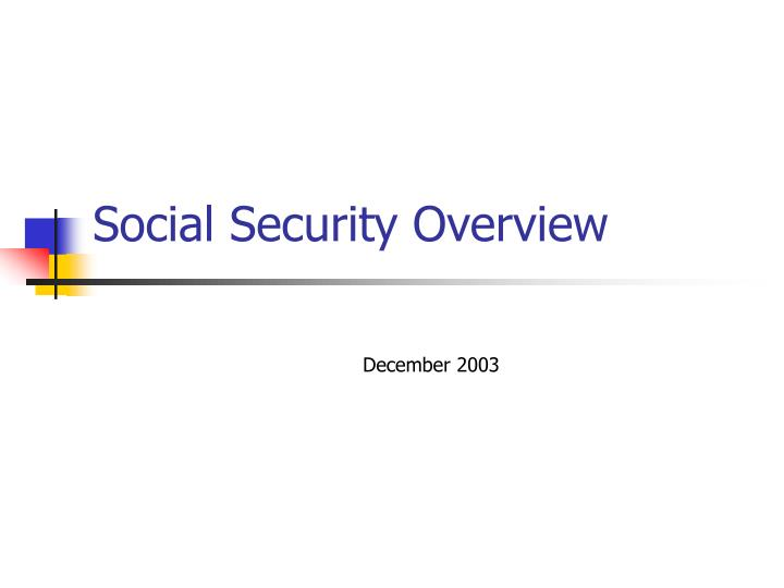 social security overview n.