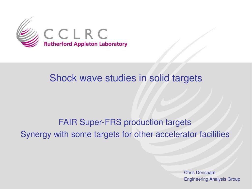 shock wave studies in solid targets l.