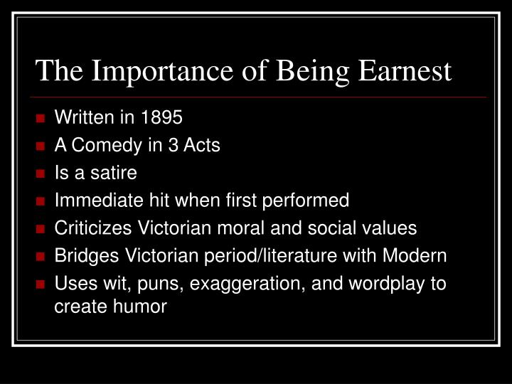 The importance of being earnest2