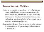 tomas roberto malthus
