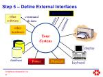 step 5 define external interfaces