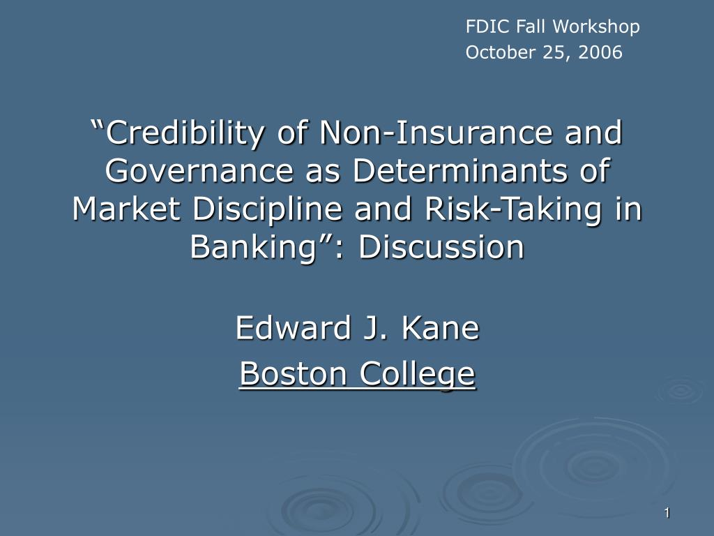 FDIC Fall Workshop